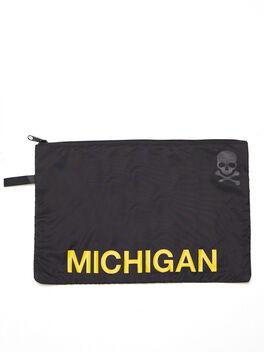 Michigan Reusable Sweat Bag, Black, large