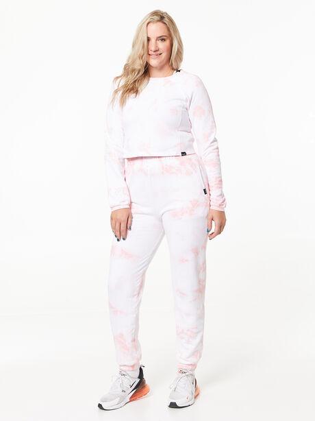 Sunday Sweat Jogger Rose Cloud, White/Pink, large image number 1