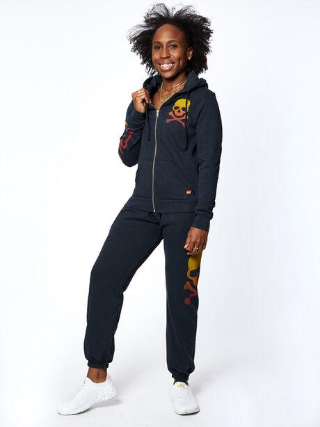 Exclusive Zip-Up Hoodie, Black Slub, large image number 6