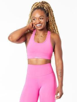 KK Sports Bra Rose Pink , Pink, large