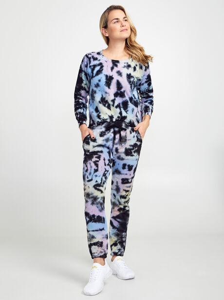 Carolina Tie-Dye Crewneck Sweatshirt, Tie Dye, large image number 3