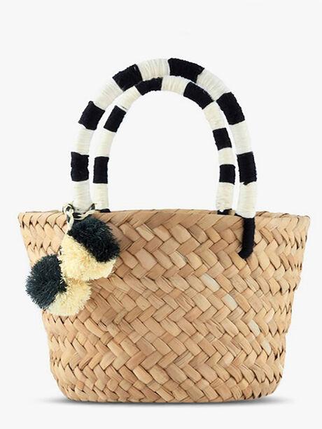 Mini St. Tropez Bag, Black/White, large image number 0