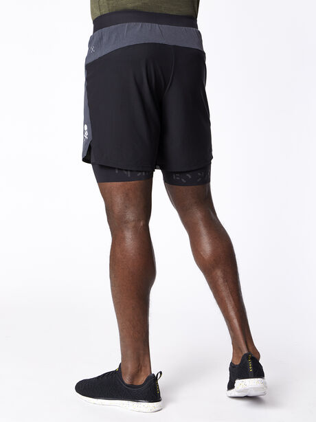 """Steady and Fast Short 7"""" Lined, Obsidian/Black, large image number 2"""