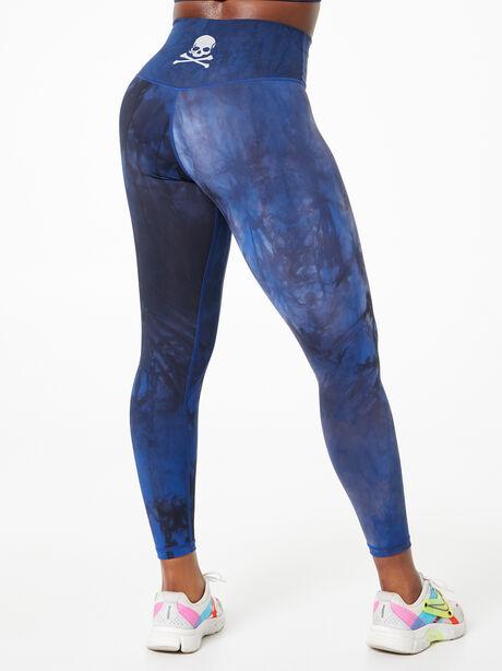 Marble Legging Blue, True Royal Blue Marble, large image number 2