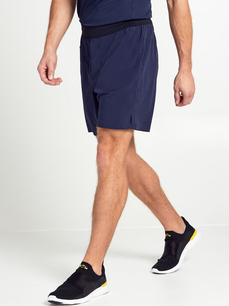 "Lined Interval Shorts 7"", Black/Navy, large image number 2"