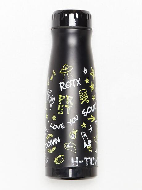Texas Water Bottle Black, Black, large image number 0