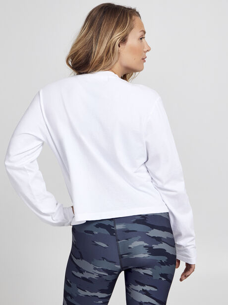 After-Class White Long Sleeve Shirt, White/Black, large image number 3