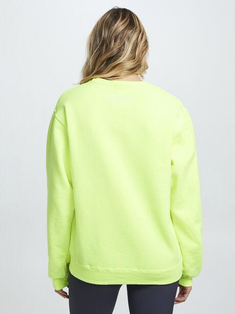 Neon Yellow Soul Crewneck Sweatshirt, Yellow, large image number 2