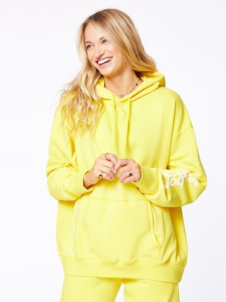 Exclusive Oversized Hoodie Yellow, Yellow, large image number 4