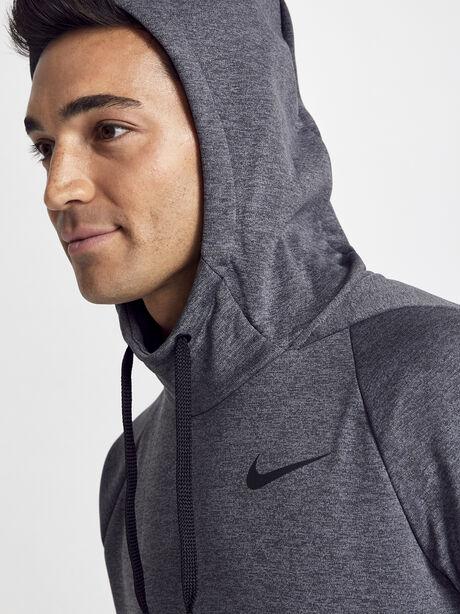 Nike Therma Hoodie, Black/Pure/Black/Mtlc Hematite, large image number 2