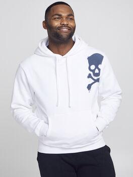 Kingsley Skull Hoodie, White, large