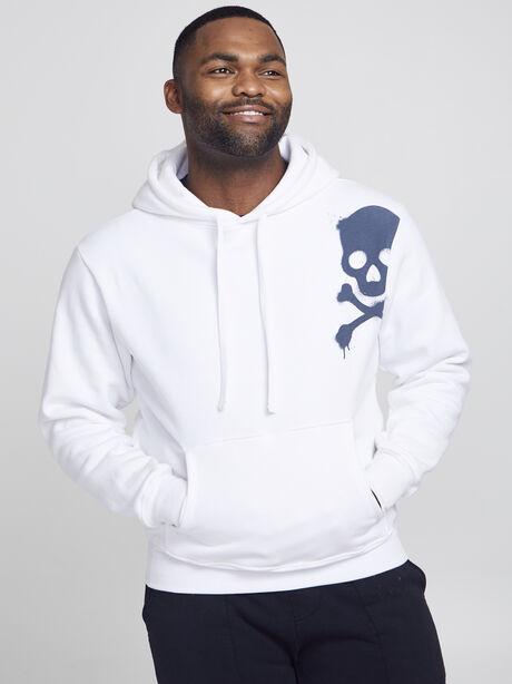 Kingsley Skull Hoodie, White, large image number 1