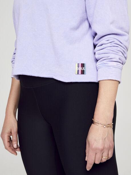 Casey Crop Sweatshirt, Purple, large image number 1
