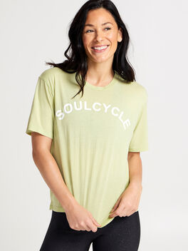 Lime Boxy Sunny Tee, Green, large