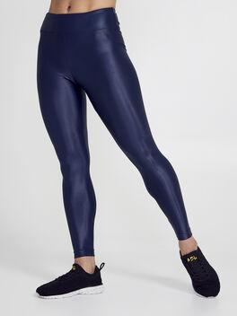 Lustrous High Rise Legging, Navy, large