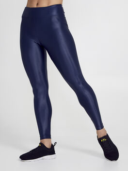 Lustrous High Rise Legging, Navy, large