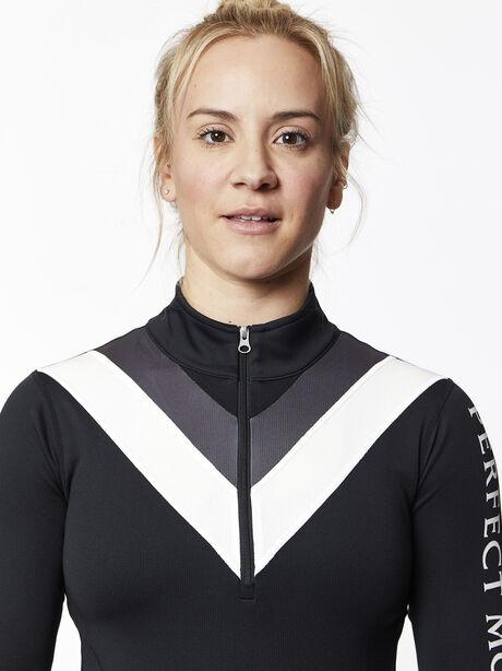 Chevron Thermal Half Zip, Black, large image number 1