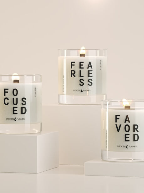 F, Yes Trio Candle Set, Clear, large image number 1