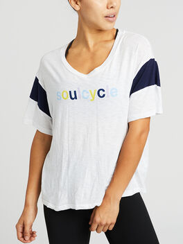 COLORBLOCK SS TEE, White, large