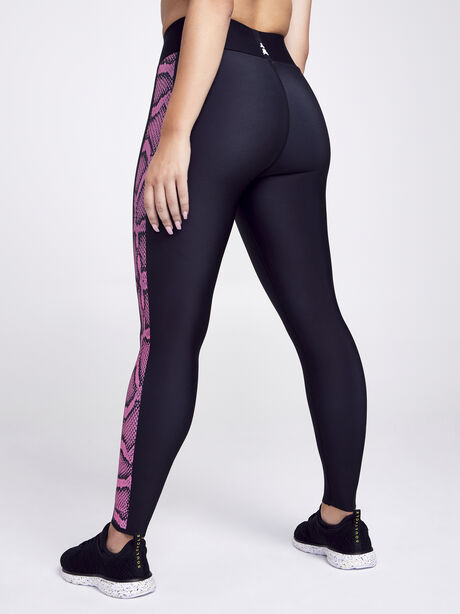 Ultra High Python Legging, Black/Pink, large image number 3