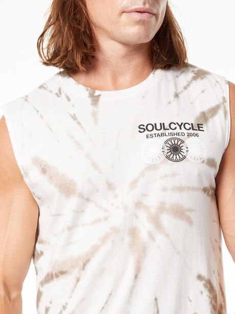 Tie-Dye All Souls Muscle Tank Green, Urban Chic Tie Dye, large image number 1