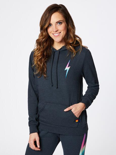 Bolt Hoodie Charcoal, Black/Pink, large image number 0