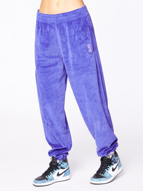 Velour Loose Fit Jogger Spectrum Blue, Blue, large image number 2