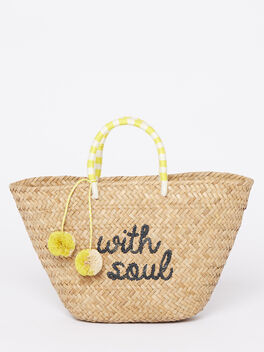 Exclusive St. Tropez Bag With Soul, Yellow/White, large