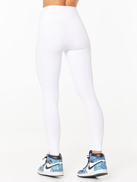 Ribbed Football Legging White, White, large image number 2
