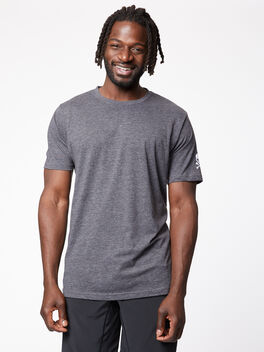 Classic Crewneck Tee, Charcoal, large